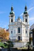 Chiesa barocca di St. Mary Magdalene, città termale Karlovy Vary, Ceca