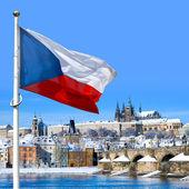 Vlajka, Pražský hrad a malá strana, Praha (Unesco), český Scryer