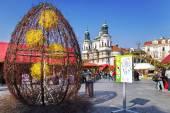 Pasqua a Praga mercato, Piazza della città vecchia, Praga, Repubblica Ceca