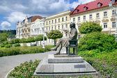Fotografie J. W. Goethe socha, Lázně Mariánské lázně, Česká republika