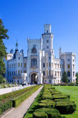 neo-gothic castle and gardens, Hluboka nad Vltavou, Czech republic, Europe
