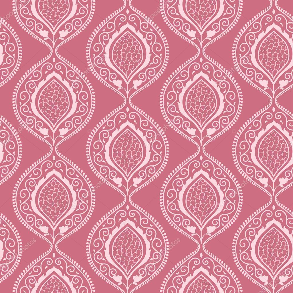 Carta da parati floreale ornamentale di lusso rosa for Stock carta da parati
