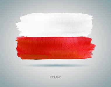 Watercolor Flag of Poland vector illustration