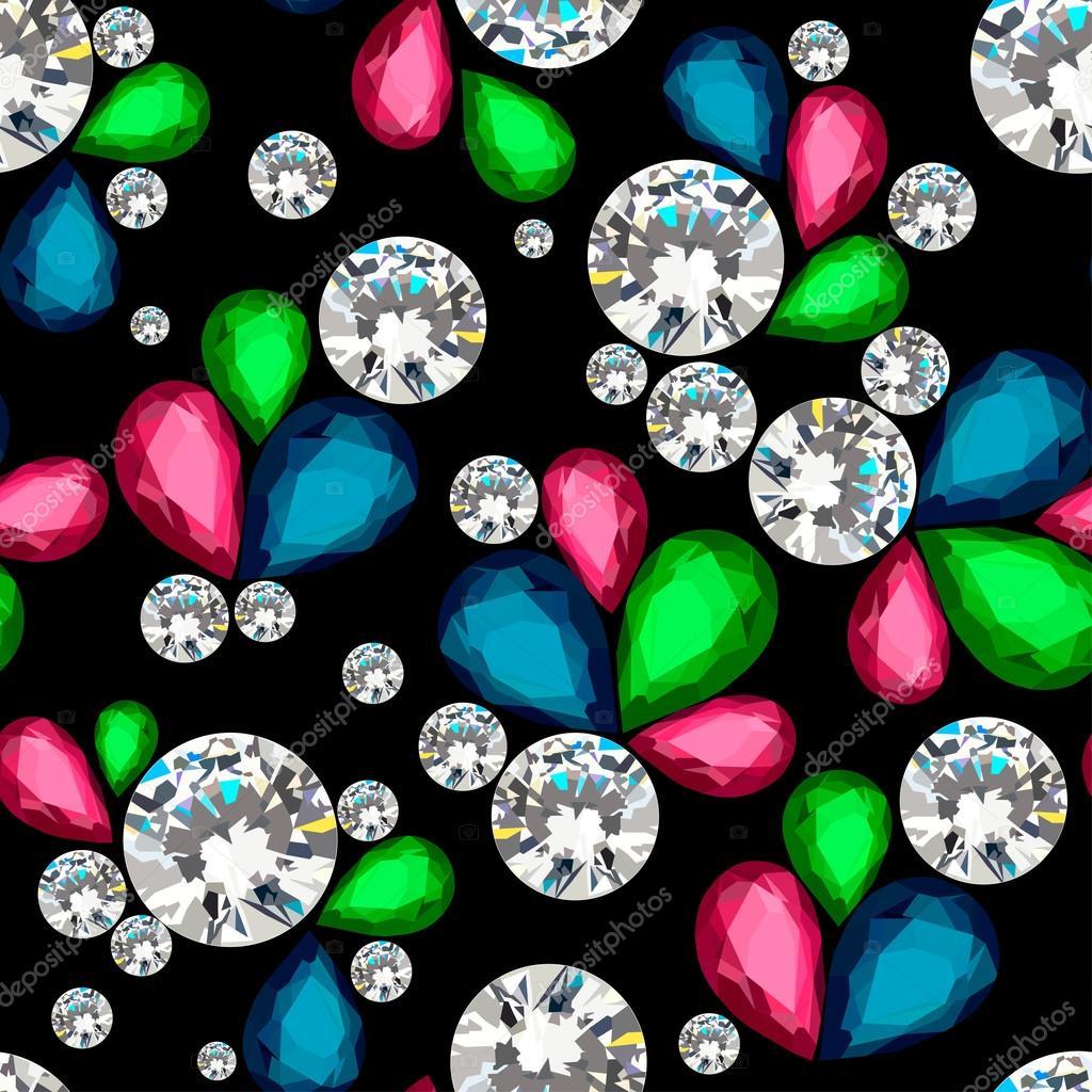 Amazing diamonds pattern. Jewelry texture. Vector illustration