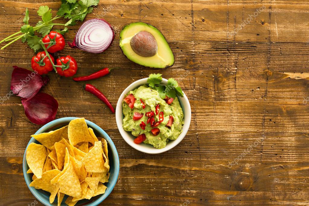 Fondo de comida mexicana