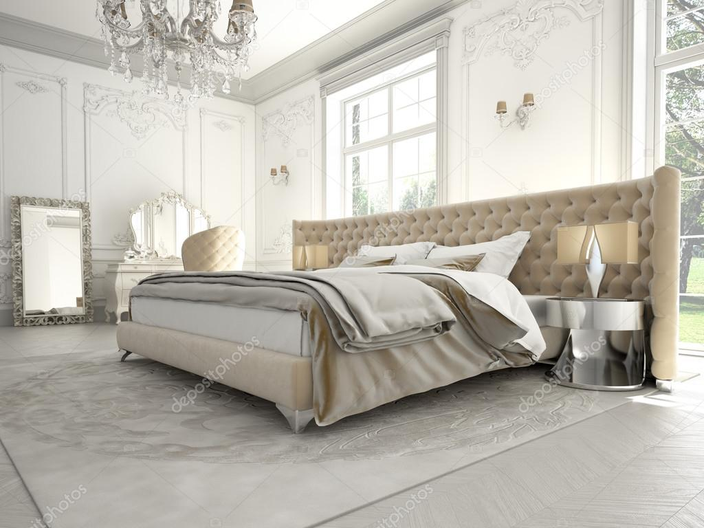 Interior Of A Classic Style Bedroom In Luxury Villa 3d Rendering