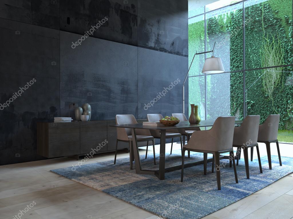 Esszimmer modernes design  Modernes Design weiß Esszimmer Innenarchitektur. 3D-Rendering ...