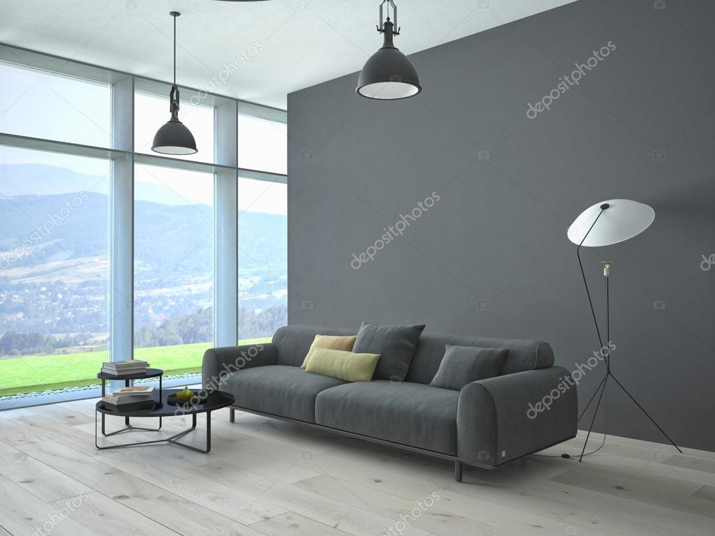 hedendaagse woonkamer loft interieur — Stockfoto © 2mmedia #61632001
