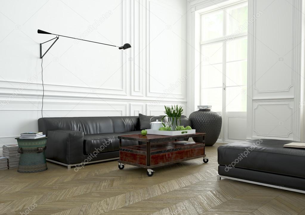 Dise o de interiores sala de estar render 3d foto de for Diseno de interiores sala de estar comedor