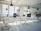Fotografie Počítače a notebooky na pracovní místo. 3D vykreslování