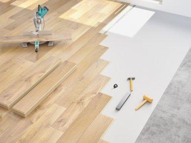 modernization of an apartment. 3d rendering
