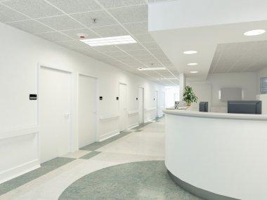 Hospital. 3d rendering