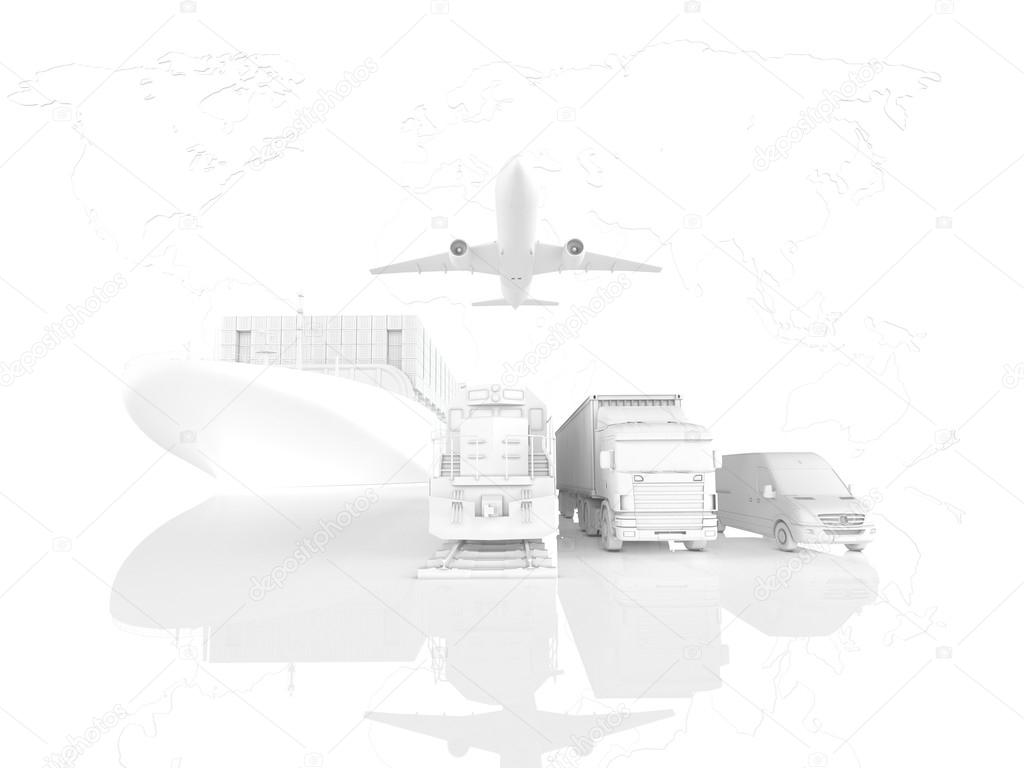 Different types of cargo. 3d rendering - Stock Photo © 2mmed