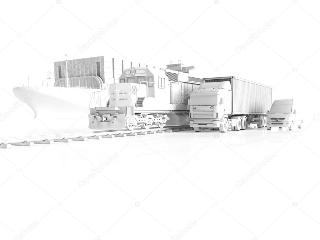 logistic concept. 3d rendering