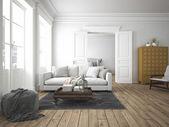 Fotografie moderní obývací pokoj. 3D vykreslování