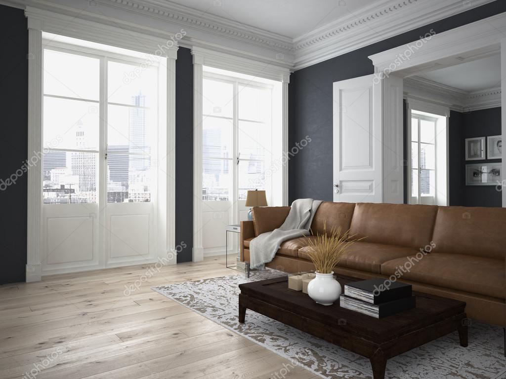 moderne Wohnzimmer. 3D-Rendering — Stockfoto © 2mmedia #86732036