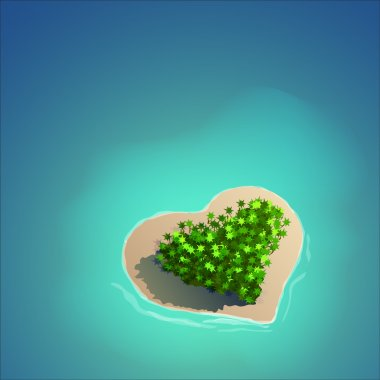 Heart Shaped Tropical Island