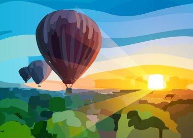 Air ballons background