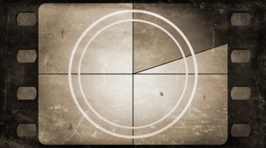 Grunge film frame background with vintage movie countdown