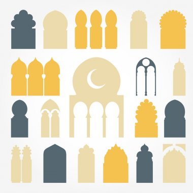 Arabic door and window illustrations