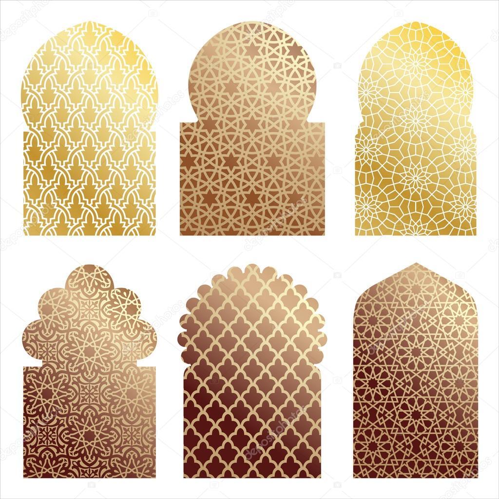 Arabic door and window illustrations