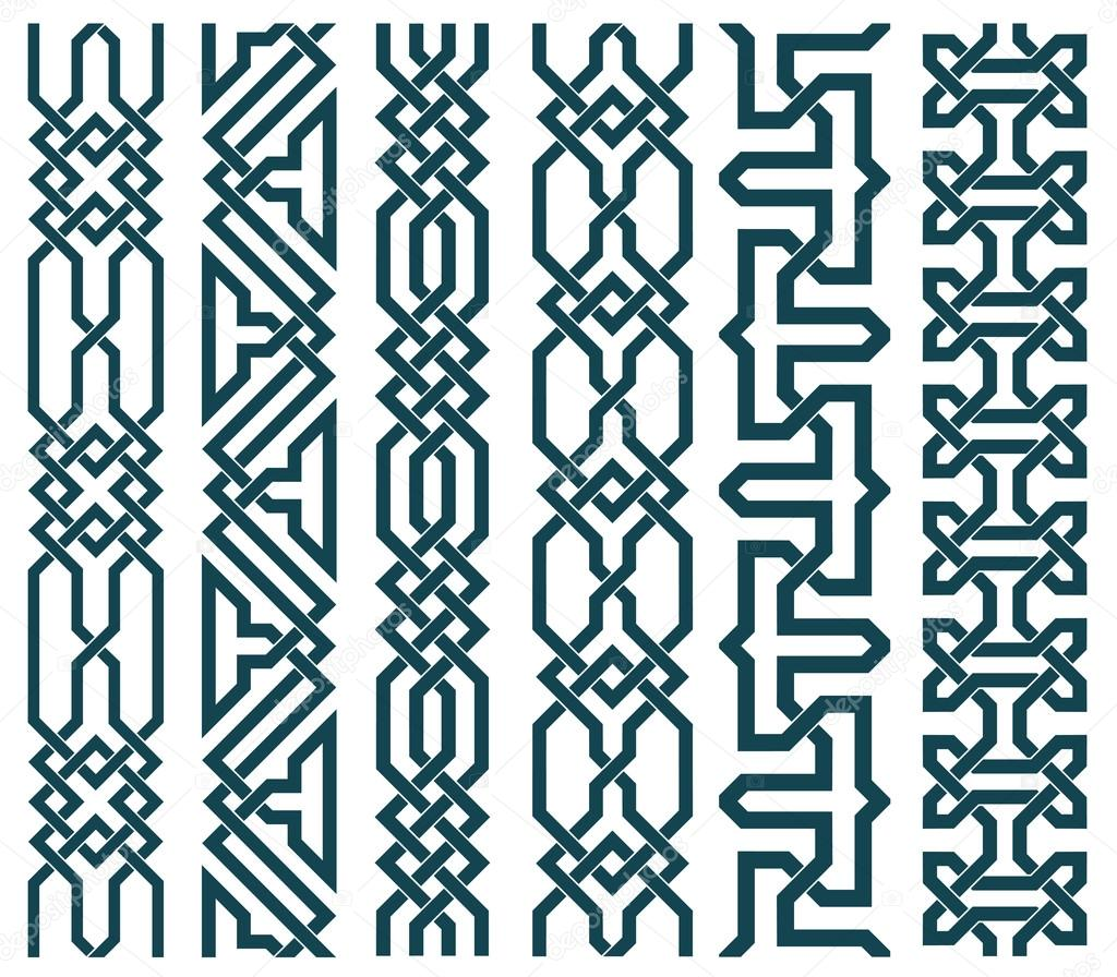 Chain Links In Islamic Pattern U2014 Stock Vector