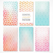 Vector oriental geometric patterns