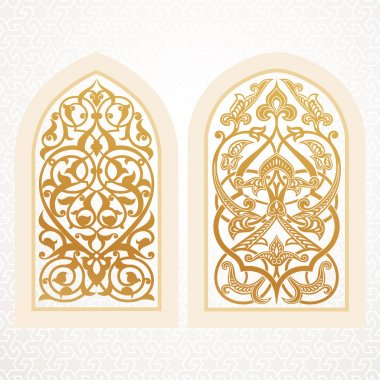 Vector windows in arabic style