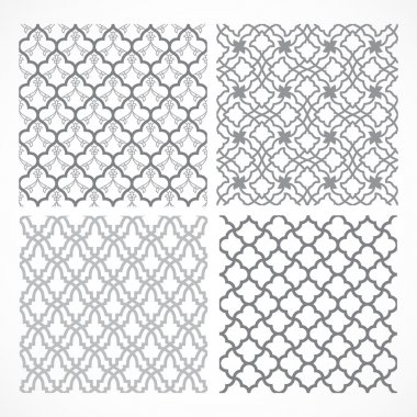 Set of seamless Arabic patterns