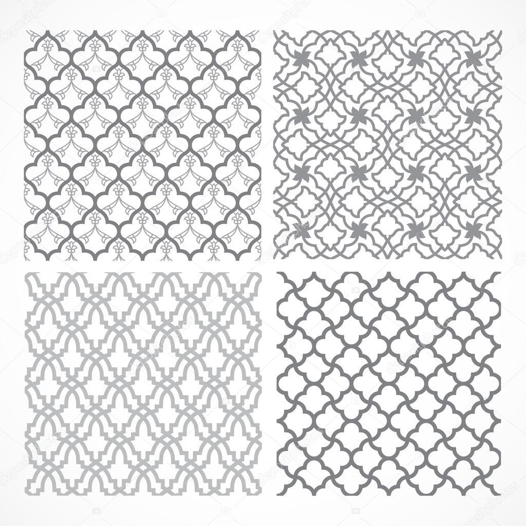 Set of seamless Arabic patterns