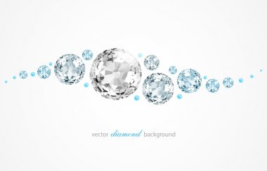 Abstract background with diamonds and pearls