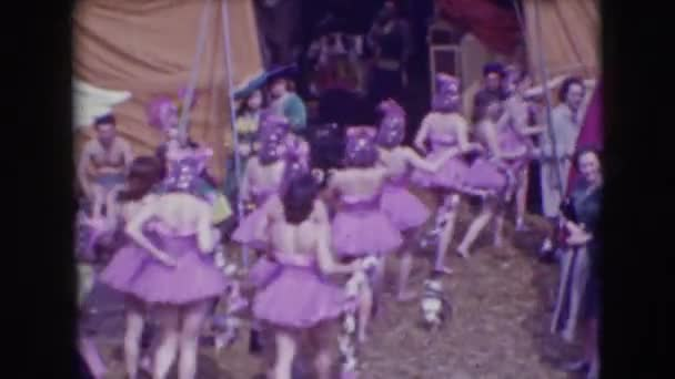 circus girls in pretty pink dresses
