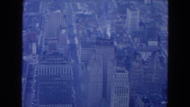 Letecký pohled na vysokých budov