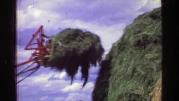 Traktor pohybující sena