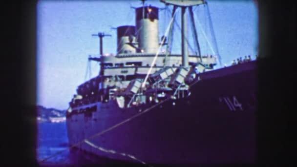 troopship turning docked