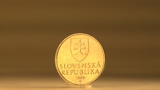 Diese Slowakischen 10 Cent Münze Stockvideo Stockfilm 60989239