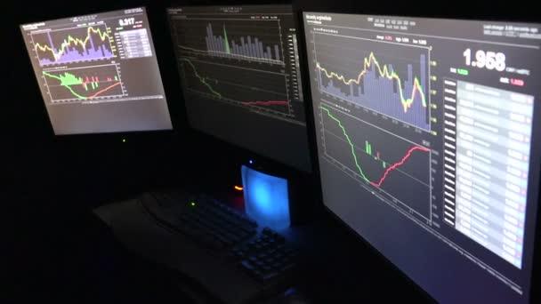 Three Computer Screens Of Bitcoin Traders