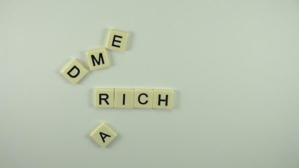 Woman put word Rich Media