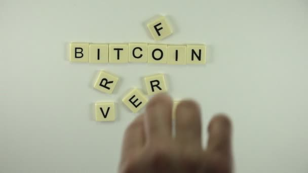 Woman put word Bitcoin Forever