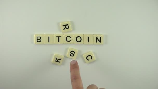 Žena dát slovo Bitcoin skály