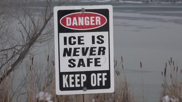 Sign near the lake