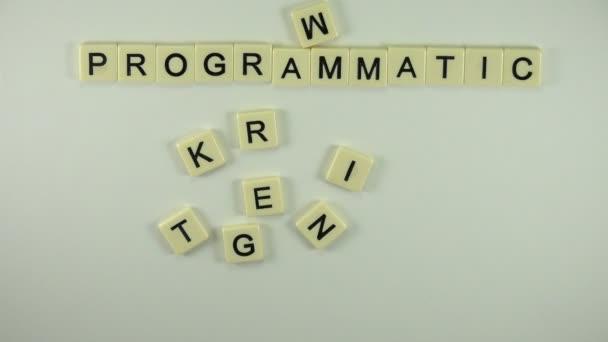 Woman put word Programmatic Marketing