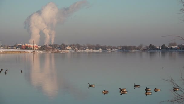 Factory Polluting over a Lake