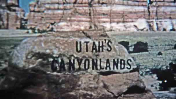 Utah canyonlands old style analog title credit