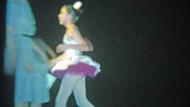 Ballet dancing troupe of girls