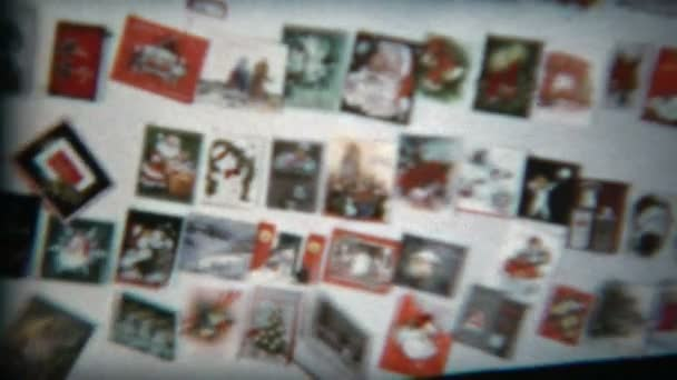 Wall of Christmas cards collected