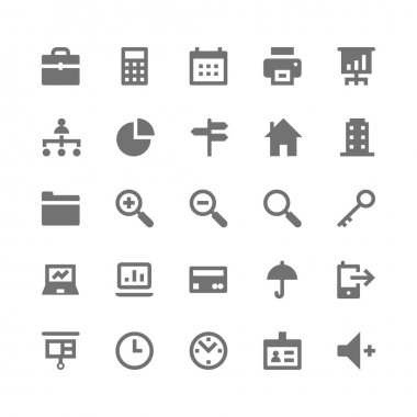 Business and Office Vector Icons 1