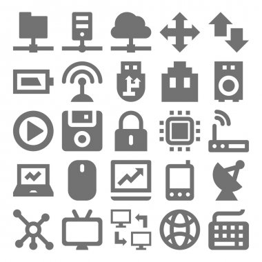 Network Technology Vector Icons 1