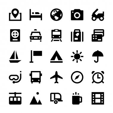 Tourism and Travel Vector Icons 1