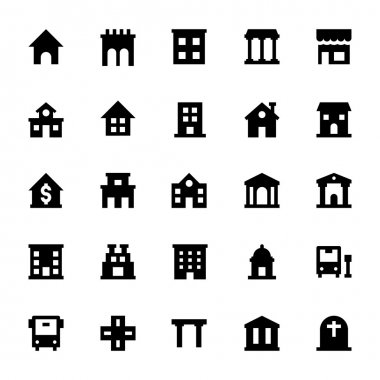 City Elements Vector Icons 1